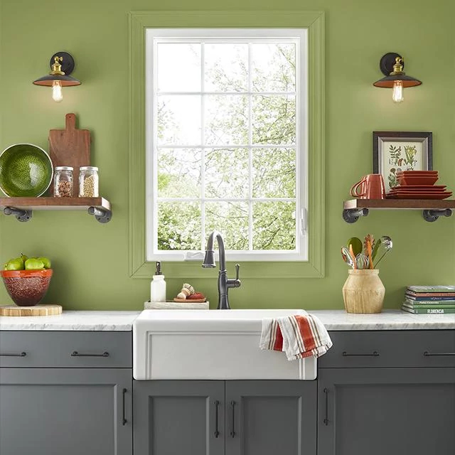 Kitchen painted in FARMER'S ROAD